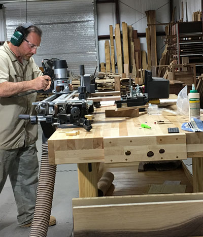 Ron Stegall at WaterWoods Custom Furniture